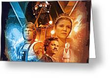 Star Wars Episode 2 Art Greeting Card
