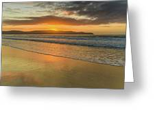 Sunrise Seascape At The Beach Greeting Card