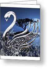 Swan Art. Greeting Card