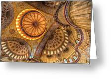 The Blue Mosque Istanbul  Greeting Card