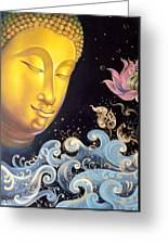 The Light Of Buddhism Greeting Card