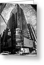 5 Times Square Ernst And Young Tower Headquarters New York City Usa Greeting Card