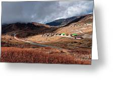 Top View Of Kupup Valley, Sikkim, Himalayan Mountain Range Greeting Card