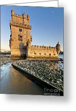 Tower Of Belem Greeting Card