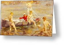 Tuke Henry Scott Ruby Gold And Malachite Henry Scott Tuke Greeting Card