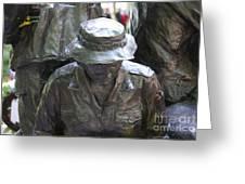 Vietnam Wall Greeting Card