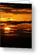 West Texas Sunset  Greeting Card