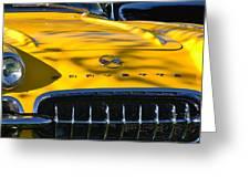 Yellow Corvette Greeting Card