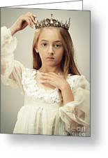 Young Girl Wearing A Crown Greeting Card