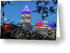Charlotte North Carolina Cityscape During Autumn Season Greeting Card