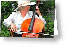 Female Cellist. Greeting Card