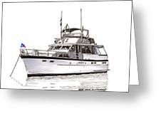 50 Foot Hatteras Motoryacht Greeting Card
