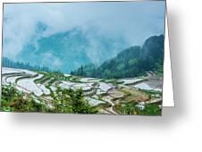 Longji Terraced Fields Scenery Greeting Card by Carl Ning