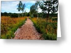 Modern Landscape Greeting Card
