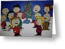50 Years A Charlie Brown Christmas Acrylic Painting Greeting Card