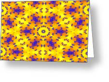Fractal Floral Pattern Greeting Card