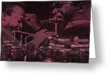 52nd Street Miles And Coltrane Greeting Card