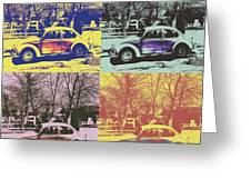 Old Beetle-pop Art Greeting Card