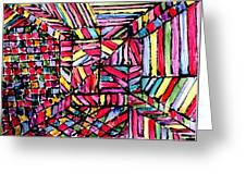 Jugglery Of Colors Greeting Card