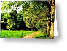 Oil Landscape Art Greeting Card