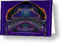 543 - Design Purple Abstract Abstract Greeting Card