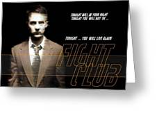 5499 Fight Club Hd S Black Greeting Card