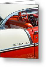 55 Chevrolet Sport Coupe Greeting Card