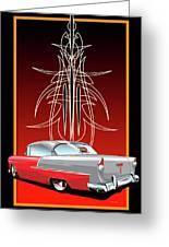 55 Chevy Pinstriping Greeting Card