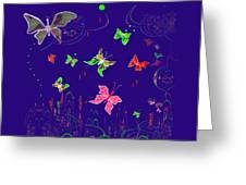 558   Butterflies  V Greeting Card