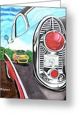 56 Chevy Reflections Greeting Card