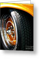 57 Chevy Golden Glow Greeting Card