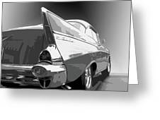 57 Chevy Horizontal Greeting Card