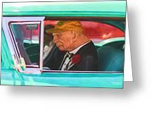 57 Chevy Man Greeting Card