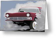 57 Ford Gasser Greeting Card