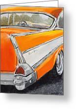 '57 Tangerine Greeting Card