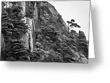 5782- Yellow Mountains Black And White Greeting Card