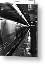 57th Street Platform Greeting Card by Barry C Donovan