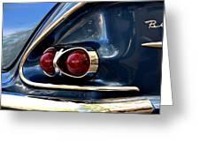 58 Bel Air Tail Light Greeting Card
