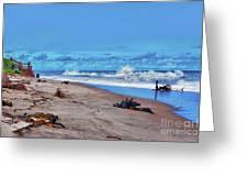 58- Sapphire Surf Greeting Card