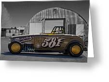 581 Bonneville Race Car Greeting Card