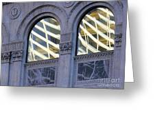 5th Avenue Reflections Greeting Card by Rick Locke