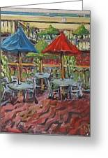 5th  Street Market Tables Greeting Card