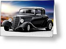 1934 Ford Five-window Coupe Greeting Card