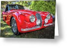 1954 Jaguar Xk 120 Se Ots  Greeting Card