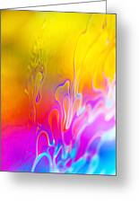 Abstract Colours Greeting Card