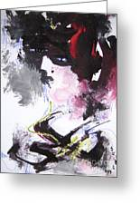 Abstract Figure Art Greeting Card
