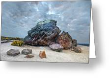 Agglestone Rock - England Greeting Card