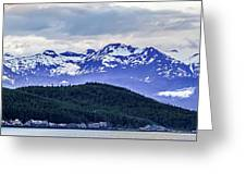 Alaska Nature And Mountain In June At Sunset Greeting Card