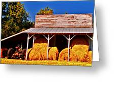 6 Bales Greeting Card