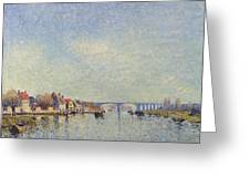 Banks Of The Loing Greeting Card